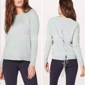 LULULEMON wool Tied To You Sweater light gray